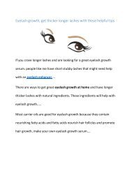 Eyelash growth, get thicker longer lashes with these helpful tips