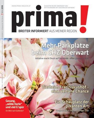 prima! Magazin – Ausgabe Mai 2018