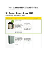 Best Outdoor Storage For Bikes - Box, Bench, Shed