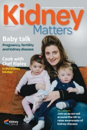 Kidney Matters - Issue 1, Spring 2018