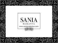Sania Maskatiya Luxury Pret Latest designs