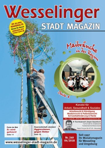Wesselinger Stadt Magazin April 2018