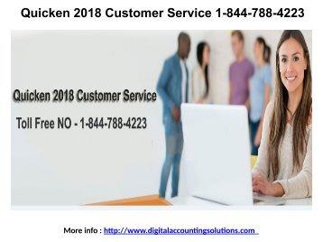 Quicken 2018 Customer Service 1-844-788-4223