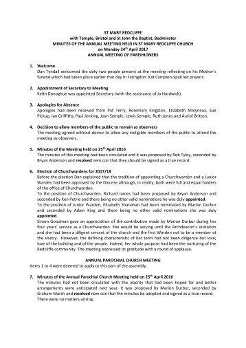 SMR 2017 APCM Minutes DRAFT