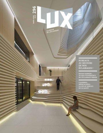 LUX 296 - LUX, la revue de l'éclairage (Avril 2018)