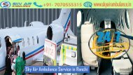Get Sky Air Ambulance from Ranchi to Delhi with Paramedical Staffs