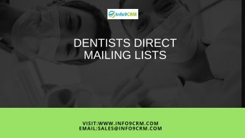 Dentists direct mailing lists