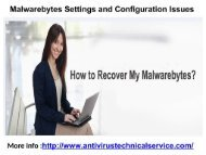 Malwarebytes Settings and Configuration Issues