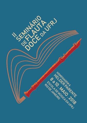 II Seminário de Flauta Doce da UFRJ - Caderno de Programação