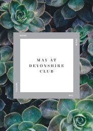 May at Devonshire Club