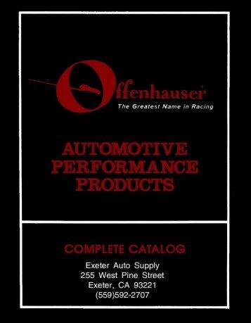 Offenhauser catalog - Exeter Auto Supply