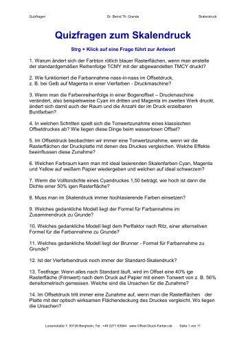 Physik - Quizfragen Quizfragen mit Antworten - Offset-druck-farben.de