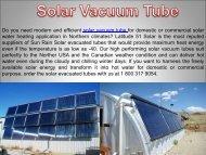 Quality Solar Vacuum Tube