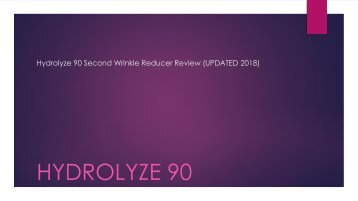 Hydrolyze 90 Second Wrinkle Reducer Review (UPDATED 2018)