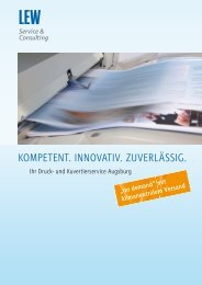 Druck- & Kuvertierservice - LEW Service & Consulting