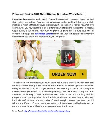 Phenterage Garcinia: Control Your Hunger And Prevent Fat Storage!