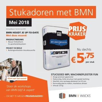 BMN Wijcks krant - stukadoren met BMN Wijcks > doen we. Uitgave mei 2018