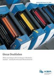 Glossar Druckfarben Effekte, Anwendungen ... - KBA
