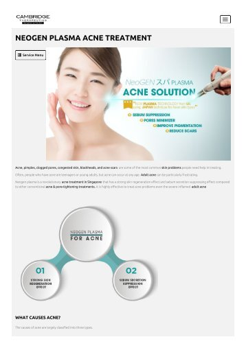 Acne Treatment Singapore - Cambridge Therapeutics
