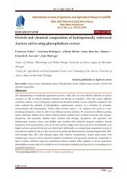 Growth and chemical composition of hydroponically cultivated Lactuca sativa using phytoplankton extract