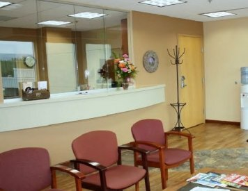 Reception area at Wasilla dentist Alaska Center for Dentistry PC