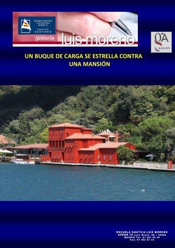 UN BUQUE DE CARGA SE ESTRELLA CONTRA UNA MANSIÓN - Nauta360