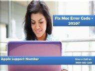 Fix Mac Error Code -2020