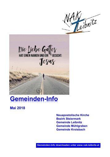 Gemeindeinfo Mai 2018