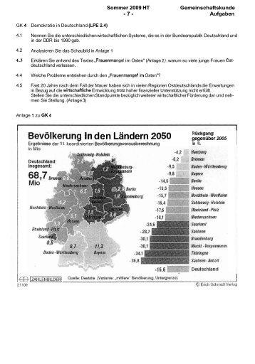 / Bevalkerung in den Ländern 2050 - Berufliche Schulen Kehl