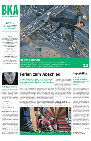 Berner Kulturagenda 2018 N°17