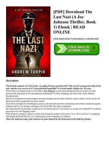 [PDF] Download The Last Nazi (A Joe Johnson Thriller  Book 1) Ebook  READ ONLINE
