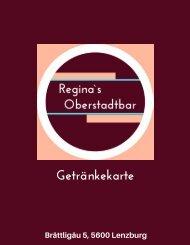 Reginas Oberstadtbar Lenzurg Preisliste Getränke und Speisen1