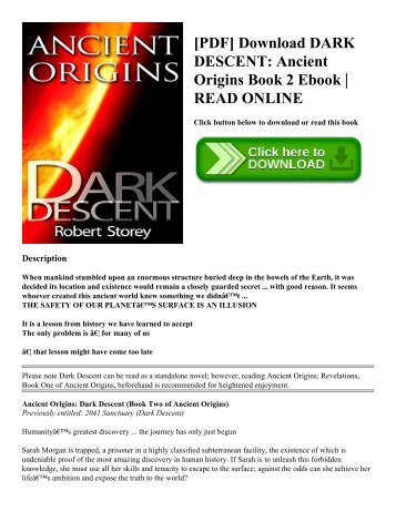 [PDF] Download DARK DESCENT Ancient Origins Book 2 Ebook  READ ONLINE