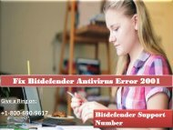 Fix Bitdefender Antivirus Error 2001