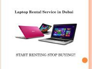 Call us @ 0557503724 for Laptop Rental Service in Dubai