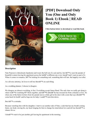 [PDF] Download Only You (One and Only Book 1) Ebook  READ ONLINE