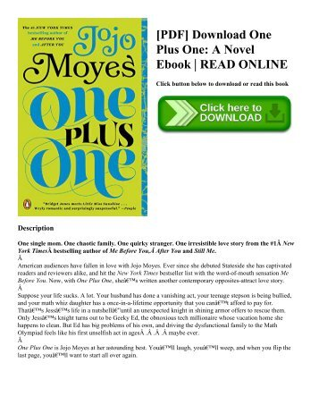[PDF] Download One Plus One A Novel Ebook  READ ONLINE