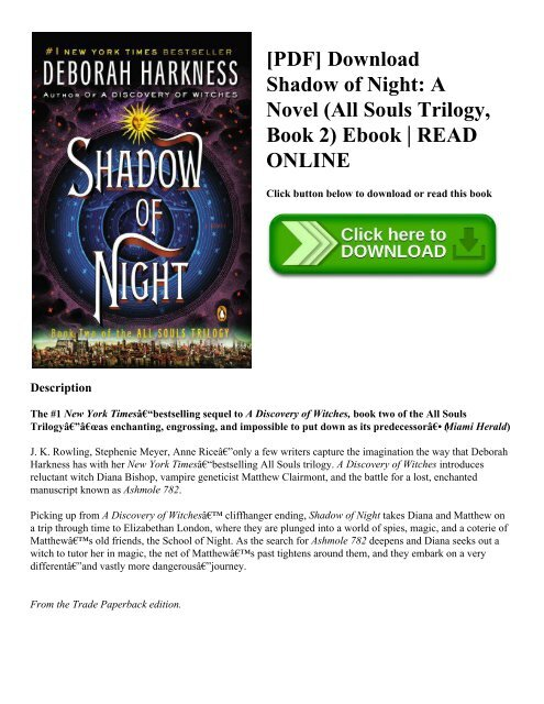 Shadow Of Night Ebook
