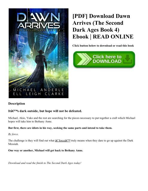 PDF] Download Dawn Arrives (The Second Dark Ages Book 4