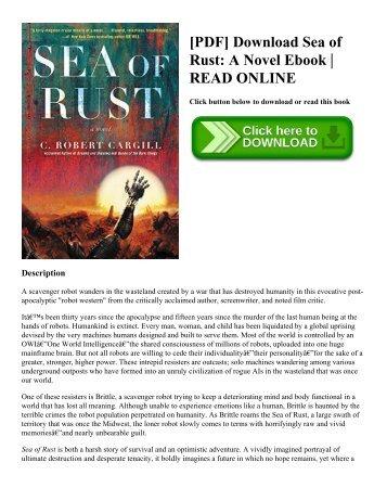 [PDF] Download Sea of Rust A Novel Ebook  READ ONLINE