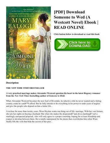 [PDF] Download Someone to Wed (A Westcott Novel) Ebook  READ ONLINE