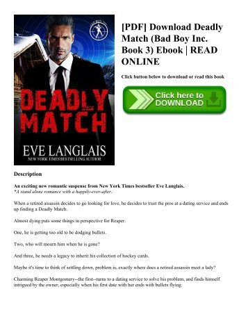 [PDF] Download Deadly Match (Bad Boy Inc. Book 3) Ebook  READ ONLINE