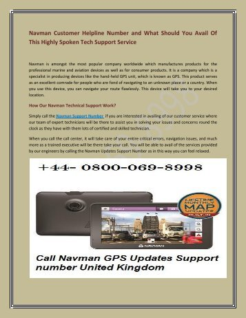 Navman GPS Maps Update‎  in 0800-069-8998 UK.
