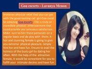 Goa escorts - Lavanya Menon