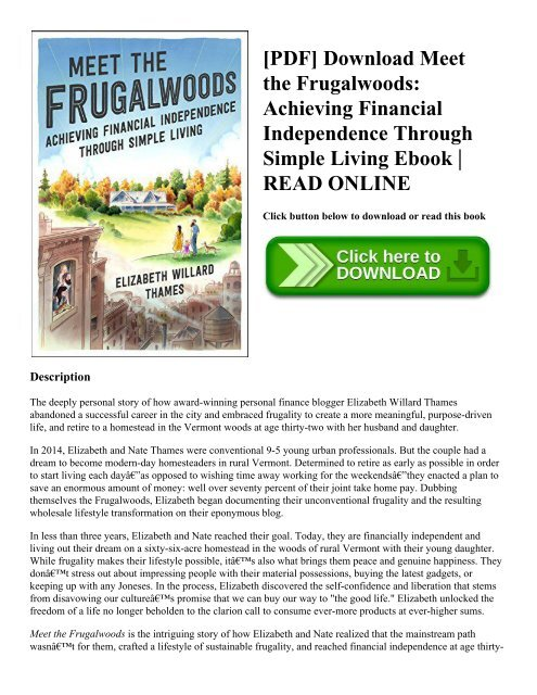 Frugal Living For Dummies Pdf