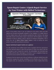 Epson Repair Center: A Quick Repair Service for Your Printer with Skilled Technicians