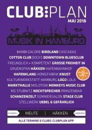 Clubplan Hamburg - Mai 2018