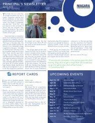 Principal's Newsletter April 2018