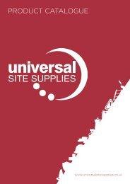 UNIVERSAL SITE SUPPLIES CATALOGUE