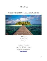 Coco Prive Private Island - Maldives